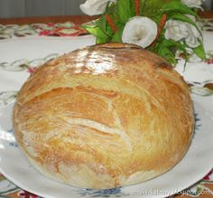 Moje pyszne, łatwe i sprawdzone przepisy :-) : Rewelacyjny chleb z garnka :-) Polecam-najlepszy :-)+FILM Yeast Bread, Bread Baking, Bread Recipes, Cooking Recipes, Feta Salad, Pina Colada, How To Make Bread, Sweet Bread, Bakery