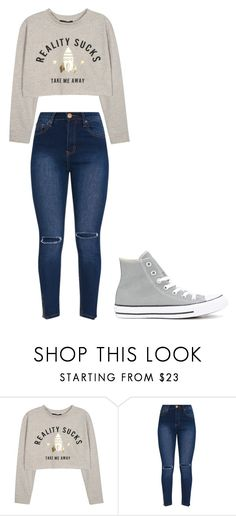 """Untitled #337"" by thenerdyfairy on Polyvore featuring Converse"
