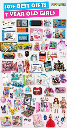 Browse our Christmas Gift Guide featuring Best Christmas Gifts For 7 Year Old Kids. Discover educational toys, unique kids gifts, kids games, kids books, and more for your 7 year old girl. Make her Christmas extra magical with these delightful picks! 7 Year Old Christmas Gifts, Christmas Gift Guide, Christmas Toys, Unique Gifts For Kids, Kids Gifts, Birthday Gifts For Kids, Birthday Presents, Little Girl Gifts, Gifted Kids