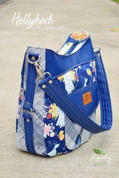 The Hollyhock Hobo Bag in 2 styles - PDF Sewing Pattern