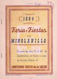 Minglanilla (Cuenca) celebra sus fiestas en honor del Cristo de la Salud del 12 al 20 de septiembre de 1964 Conciertos de la Banda Municipal dirigida por Luis Gil #Fiestaspopulares #Minglanilla #Cuenca