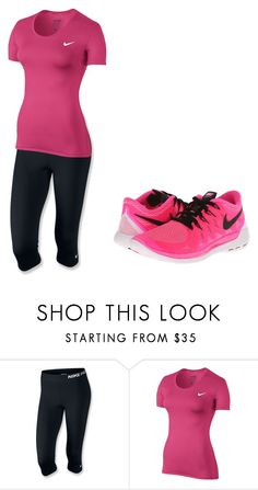 """""""NIKE"""" by meadowrosswithbriannakummer ❤ liked on Polyvore featuring NIKE, women's clothing, women, female, woman, misses and juniors"""