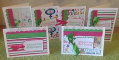 A personal favorite from my Etsy shop https://www.etsy.com/listing/244442332/handmade-christmas-cards-pink-green