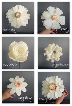 Librarian Tells All: Handmade Felt Wedding Bouquets Look Like a Fondant Confectionery Dream Come True!