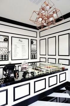 On your molding: http://www.stylemepretty.com/living/2015/02/26/51-reasons-black-and-white-is-having-a-moment/