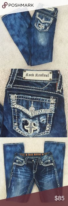Rock Revival boot cut jeans size 25 Like new real Rock Revival jeans from…