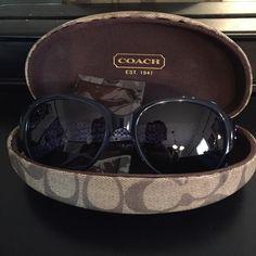 Navy Coach sunglasses Fantastic excellent condition coach glasses Coach Accessories Sunglasses