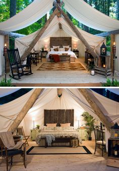 10 Glamping Destinations For People Who Want To Go Camping But Need The Luxuries Of A Hotel // Pampered Wilderness – Millersylvania State Park, Washington, USA // Located within the campgrounds of Millersylvania State Park, and not far from Olympia, these glamorous tents make sure you're pampered.