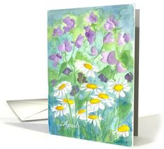 April Flower Birthday card (555704)