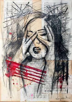 "Saatchi Art Artist Krzyzanowski Art; Drawing, ""Treuble"" #art"