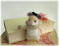 Hamlet Hamster Needle Felted Shakepearian Art Doll Made to Order by Mythillogical, $85.00 USD