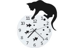 Fishbowl Cat Clock