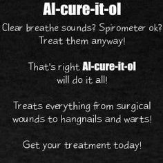 Albuterol=Al-cure-it-all  aka    Proventil=Pre-vent-all  Beta 2 adrenergic agonist Generic: albuterol Trade: Proventil, Ventolin Primary receptor: beta 2 Primary uses: asthma (response is bronchial dilation) **High doses may affect beta 1 receptors and increase HR**
