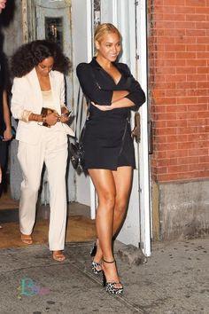 Beyoncé & Solange Leaving ABC Kitchen Restaurant In New York 12.05.2015