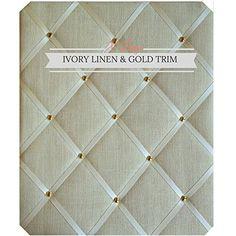 Notice BoardsMemo BoardsLarge XCm Gold Linen Ribbo  Https