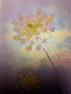 """Detail """"Queen Anne's Lace"""" 11"""" x 21"""" Fossil Vitra Panel by Genevieve C. Cole"""