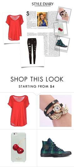 """""""sandy"""" by shakiadinkins-1 on Polyvore featuring Polo Ralph Lauren, Kate Spade, Converse, River Island and Polaroid"""