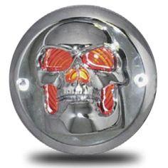 "2"" Chrome Skull Light Bezel | Iowa80.com"