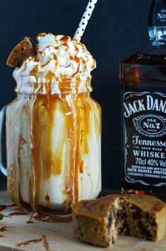 sweet, sticky, and totally boozy: Sticky Date Milkshake with Jack Daniels Caramel Sauce from @dreeciotti