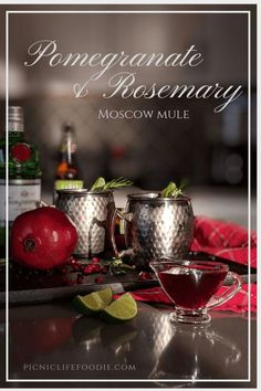 Lift your holiday (or ordinary day) spirits with this beautiful cocktail starring a ruby-red simple syrup. Pomegranates, oranges, lime and a hint of rosemary are a perfect combination for a twist on the traditional Moscow Mule.