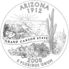 AZ State Quarter rendering
