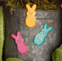 Marshmallow Bunny Magnet Assorted Set of 3 The Round Top Collection E7038