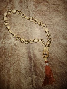 Custom Elder Futhark Runic Prayer Beads. $35.00, via Etsy.