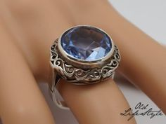 Metal Clay Jewelry, Old Jewelry, Jewellery, Aquamarines, Rings N Things, Signet Ring, Band Rings, Poland, Class Ring