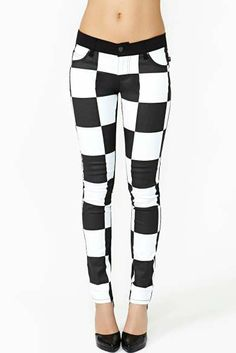 Tripp NYC Checkered Past Skinny Jeans