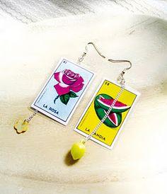 Loteria earrings!?!?? Cute tho!