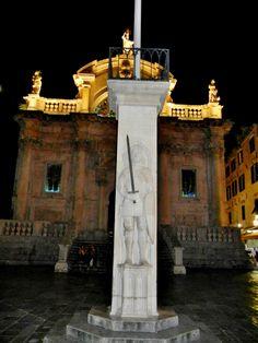 Orlando Column in Luza Square, Dubrovnik