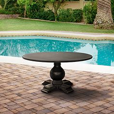 "Hermosa Outdoor 60"" Round Pedestal Dining Table - Arhaus outdoor Pinterest contest"