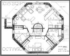 Amazing Octagon Home Plans #7 Octagon House Plans Designs