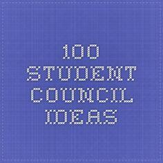 100 student council ideas