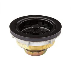 kitchen sink strainer with black tail section