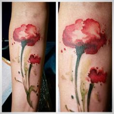 #poppy #watercolortattoo #tattoo #watercolor