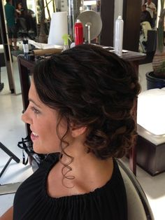 Romantic  textured updo