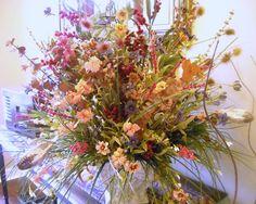 Spring Flowers - Floral Arrangement - Silk Floral Arrangement - Silk Flowers - Breathtaking Richly Colored Centerpiece