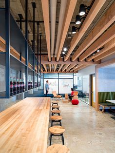 Studio O+A designs exposed brick and concrete headquarters for Yelp in San Francisco.
