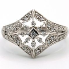 Fashioned in white gold adorned with diamonds. Brilliant Diamond, Gold Diamond Rings, Diamonds, White Gold, Band, Jewelry, Fashion, Jewellery Making, Moda