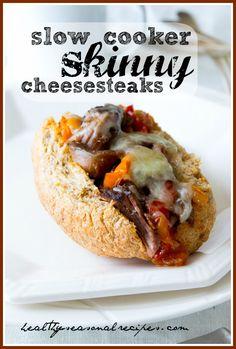 Slow cooker skinny cheesesteaks | Healthy Seasonal Recipes @healthyseasonal