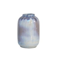 Flot håndlavetvase medsmuk glasur fra hollandske HK Living.        Farve : Blåtonet        Materiale : Fajance        Mål : 10 x 10 x 16 cm
