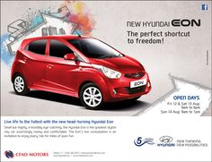 CFAO Motors: New Hyundai EON - The perfect shortcut to freedom ! Tel: 286 9255