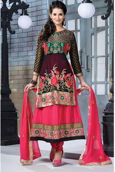 Latest Georgette Designer Party Wear Eambroidered Salwar Kameez