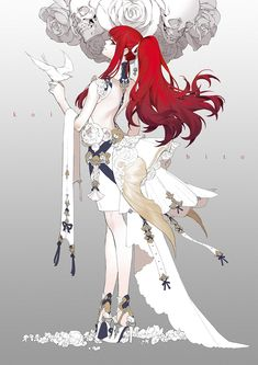 Like Drawing Image Fantasy of forms the Face Book Female Character Design, Character Design References, Character Design Inspiration, Character Concept, Character Art, Red Hair Girl Anime, Girls With Red Hair, Anime Art Girl, Manga Art