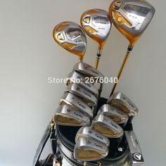 Putter :A standard golf putter. Fairway wood Club Type: Golf complete set of clubs. Shaft Flex:Regular or Stiff shaft. Golf Grip:Yes. Cheap Golf Clubs, New Golf Clubs, Golf Club Sets, Graphite, Honma Golf, Golf Tips Driving, Golf Shafts, Golf Club Grips, Golf Drivers