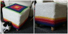 Hazel's Crochet: Ta-dah - Granny Footstool