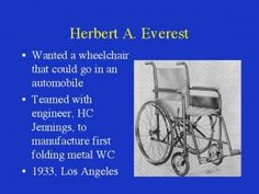 The modern wheelchair by Everest & Jennings (1932)
