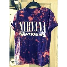 T-shirt: dye colorful nirvana nevermind tie dye rock shirt swag... ❤ liked on Polyvore featuring tops, t-shirts, hipster t shirts, tie dye t shirts, graphic design t shirts, tie dyed t shirts and rock t shirts