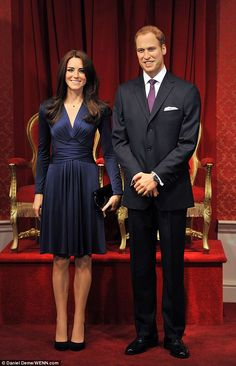 Happy anniversary, Kate and Wills! Madame Tussauds unveil waxworks of Duke and Duchess of Cambridge to celebrate one year of marriage